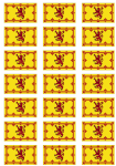Scotland Lion Flag Stickers - 21 per sheet